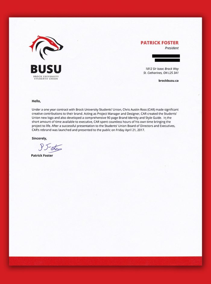 The Official Car - BUSU Logo | Pat Foster